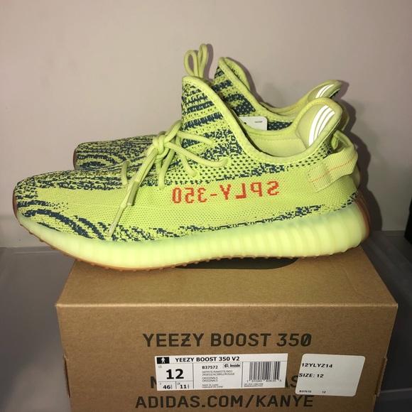 709b21660457 Yeezy 350 Boost V2 Semi Frozen Yellow